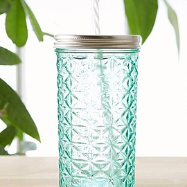 urban outfitters - Faceted Glass To-Go Jar