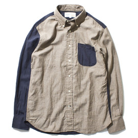 nanamica × New England Shirt - Small Collar B.D. Crazy Shirt