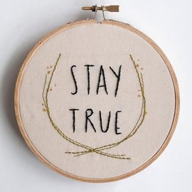 Stay True Embroidered Wall Art