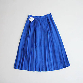vintage - cobalt skirt | pleated skirt | pleated blue skirt