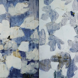 Reza Derakshani - EVERY DAY & EVERY NIGHT BLUE, 2011, oil and tar on canvas