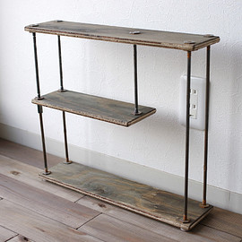wood iron shelf 400*457*111 (古材)
