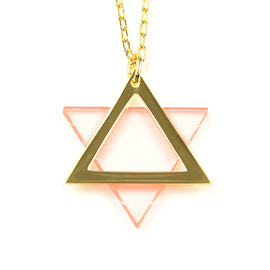 COSMIC WONDER Light Source - hexagram necklace