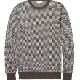 Brioni - Patterned Wool and Silk-Blend Sweater