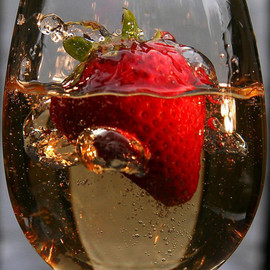 red - strawberry champagne