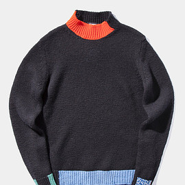 RAF SIMONS - Knitted Mockneck Sweater