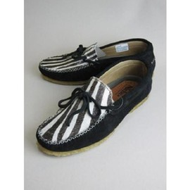 Niche. - Calf Leather Deck Shoes / zebra