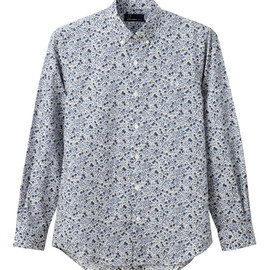 Fred Perry - Liberty Printed Shirt Blue