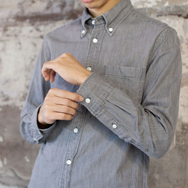 MANUAL ALPHABET - MANUAL ALPHABET 6オンス DENIM BD SHIRTS