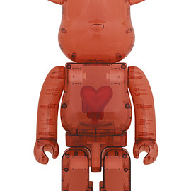 MEDICOM TOY - BE@RBRICK Emotionally Unavailable Clear Red Heart 1000%