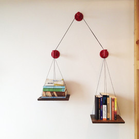 cushdesignstudio - Red Balance Bookshelf (limited edition)
