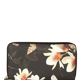 GIVENCHY - Continental wallet in printed coated canvas $504