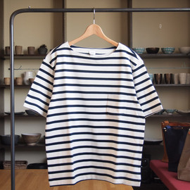 YAECA - Basque S/S #white×navy