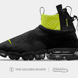 The Golden Shape, Acronym, NIKE - Air VaporMax Flyknit Moc - Black/Volt