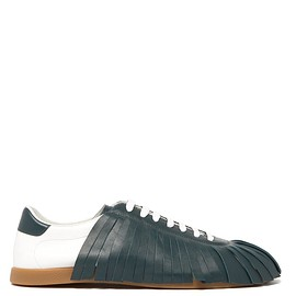 LANVIN - Fringed leather trainers
