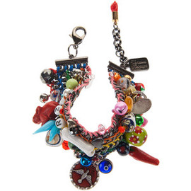Venessa Arizaga Woodstock Chunky Chain Bracelet With Charms