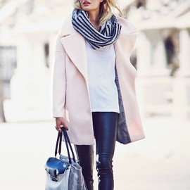 Calvin Klein - Calvin Klein Pink Notch Collar Coat