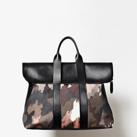 3.1 Phillip Lim - Men's Fall 2013 '31 Hour' BAG in painted camo print canvas