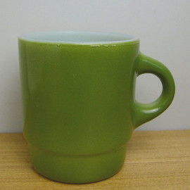 Fire King - Stacking Mug Green
