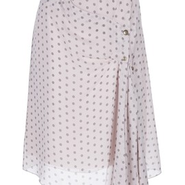 NINA RICCI - polka dot wrap effect skirt