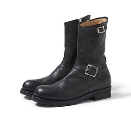 nonnative - BIKER ZIP UP BOOTS COW LEATHER by OFFICINE CREATIVE