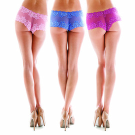 lingerie - Cheeky Boyshort in Montelle's signature lace SP14 colors