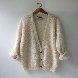 ON HOLD.....Vintage Cream Button Up Cardigan