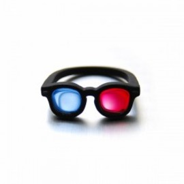 Lilou - 3D MEGANE RING #11 mat black