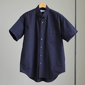 Graphpaper - Oxford S/S B.D Box Shirt #navy