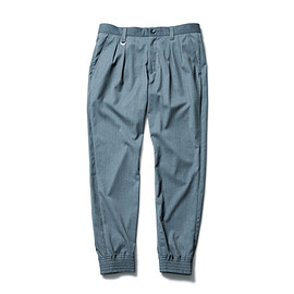 SOPHNET. - STRETCH GABARDINE RIBBED 2 TUCK PANT