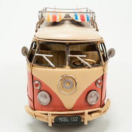 Vintage Car Tin Toy[THE PINK SURF BUS]