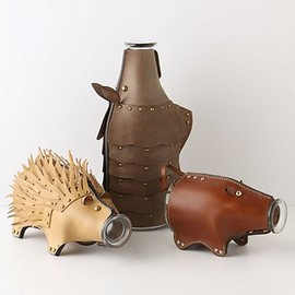 Anthropologie - Leather Animal Carafes
