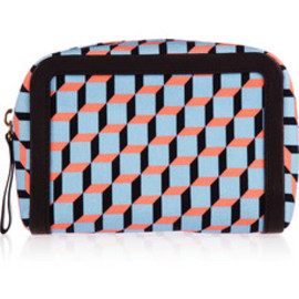 PIERRE HARDY - Cube-print coated-canvas pouch