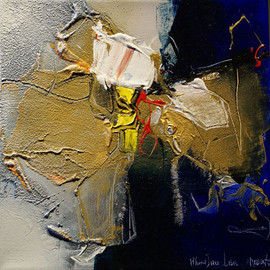 H. Jou Lee - Butterfly I, mixed media on canvas