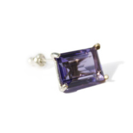 simmon - LOVE K10×SV Crystal Earring (purple)