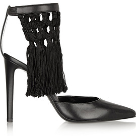 ALTUZARRA - Triton fringed leather pumps