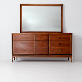 vintage - Kent Coffey Simplex II dresser with mirror, mid-century dressing table vanity