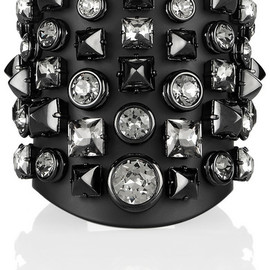 Gucci - Embellished ruthenium-plated cuff
