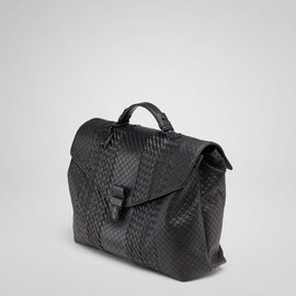 bottega veneta - nero intreccio imperatore briefcase