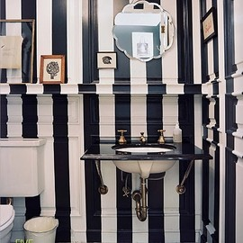 stripes/bathroom