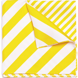Paul Smith London - Striped Silk Pocket Square