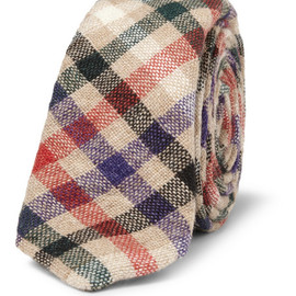 Alexander Olch - Alexander Olch Plaid Woven-Wool Tie