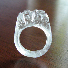 deannaburasco - Carved Ice - Resin Ring