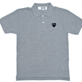 PLAY COMME des GARCONS - Black Play Polo Shirt (Grey)