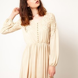 Thirty Four Disciples - Image 1 ofThirty Four Disciples Lace Shoulder Skater Dress