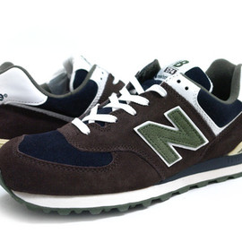 New Balance - NEW BALANCE M574SP BG(BROWN / NAVY / GREEN)