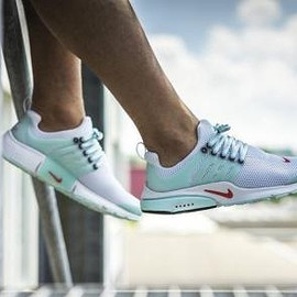 NIKE - NIKE AIR PRESTO WHITE/ORIENNTAL POPPY-SKYLIGHT-BLACK