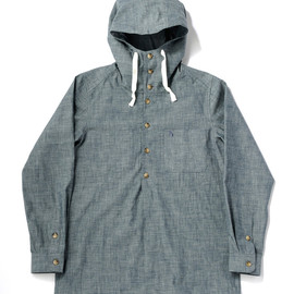 bal - CHAMBRAY ANORAK SHIRT