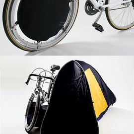 Chung-Jung Wu, Pei-Chun Chen & Li-Fu Chen - Travel Tent is integrated seamlessly into a specialized bicycle wheel