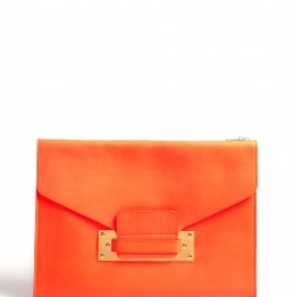 SOPHIE HULME - SOFT ENVELOPE CLUCH/BLIGHT CORAL